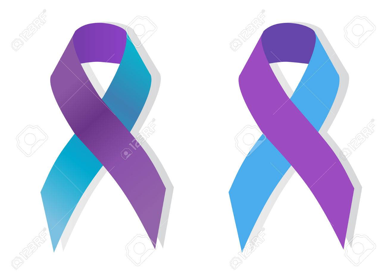The purple and blue awareness ribbon is a symbol for pediatric the purple and blue awareness ribbon is a symbol for pediatric strokes stock vector buycottarizona Image collections