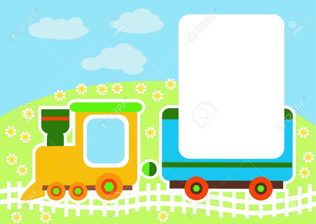 Vector illustration of a toy train cartoon train background vector vector illustration of a toy train cartoon train background for greeting cards childrens album or photo m4hsunfo