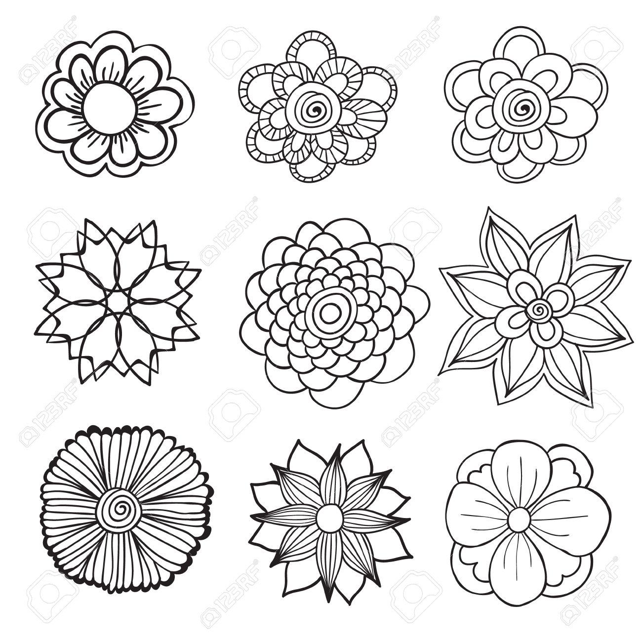 Dibujado A Mano Marco Artistico Etnica Ornamentales Con Dibujos De