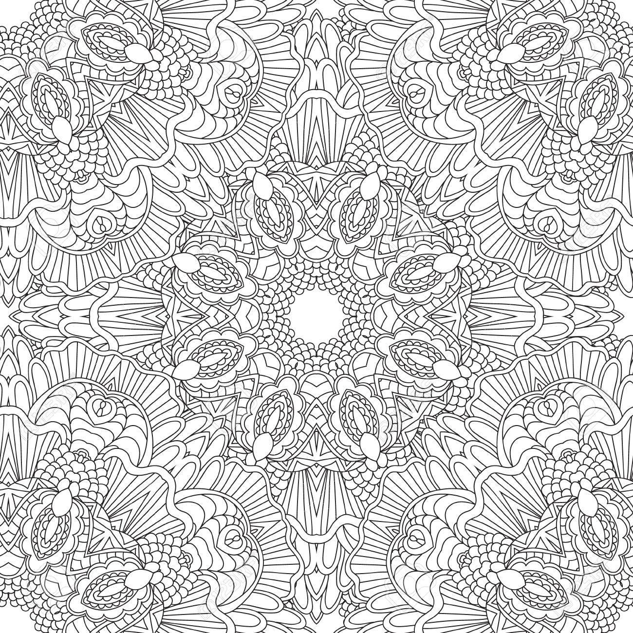 Coloriage Mandala Nature.Coloriages Pour Les Adultes Coloriage Main Book Decorative Dessinee