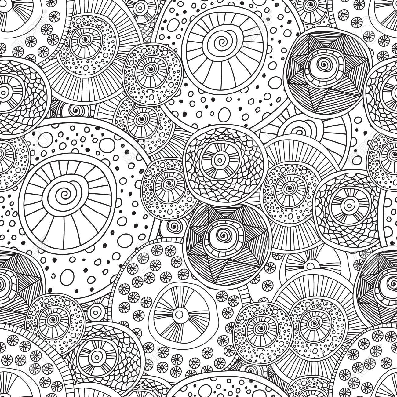 Colorear Páginas Para Colorear Adultos Modelo Abstracto Blanco Y ...