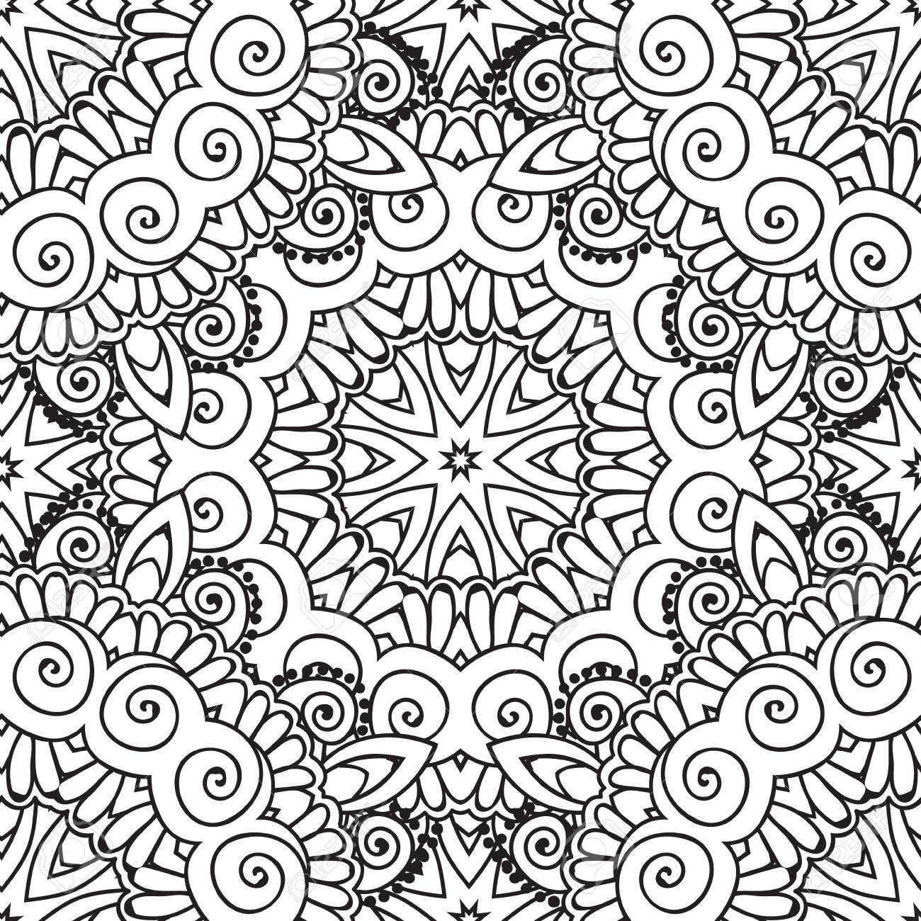 Coloring pages for adults. Coloring book.Decorative hand drawn..
