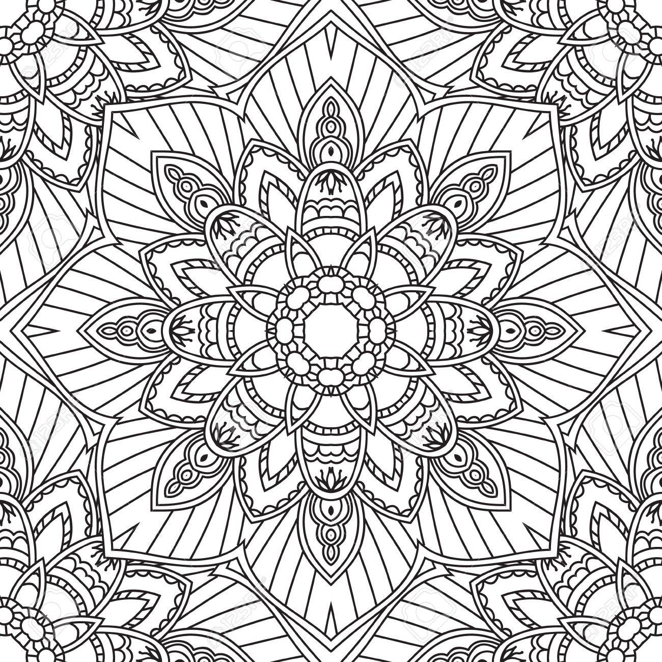 Coloring Pages For Adults Coloring Book Decorative Hand Drawn