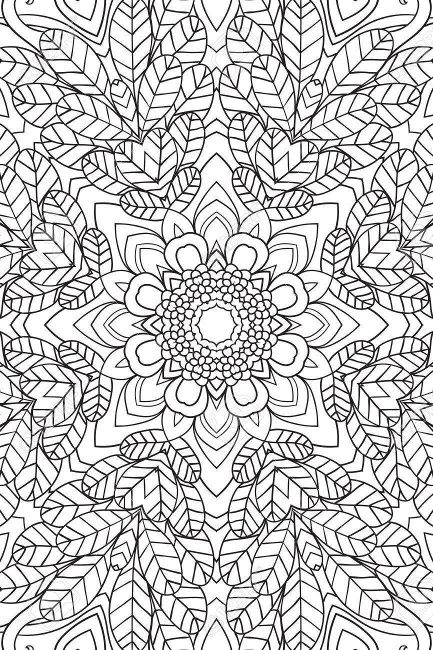 Mandala Hintergrund. Rund-Ornament. Malbuch Für Erwachsene ...