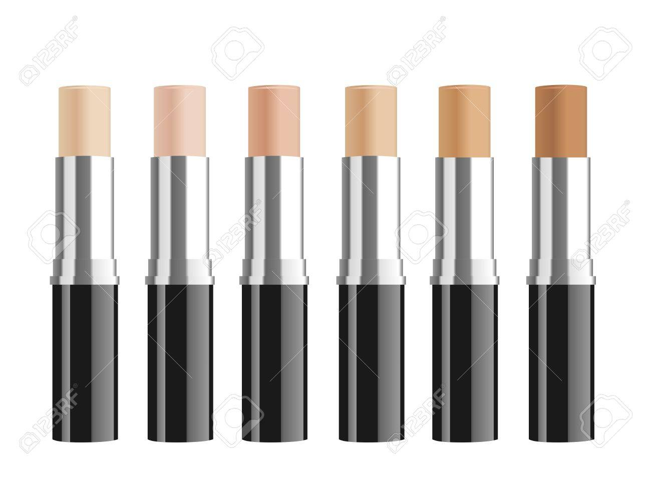 Set of cosmetic corrective concealers. Vector illustration - 44253219