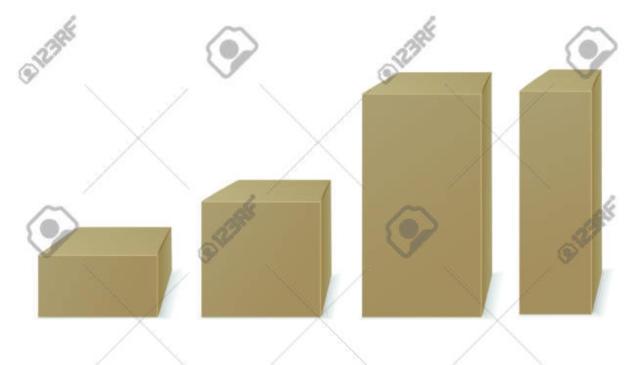 Four paper packaging. Vector - 69544325