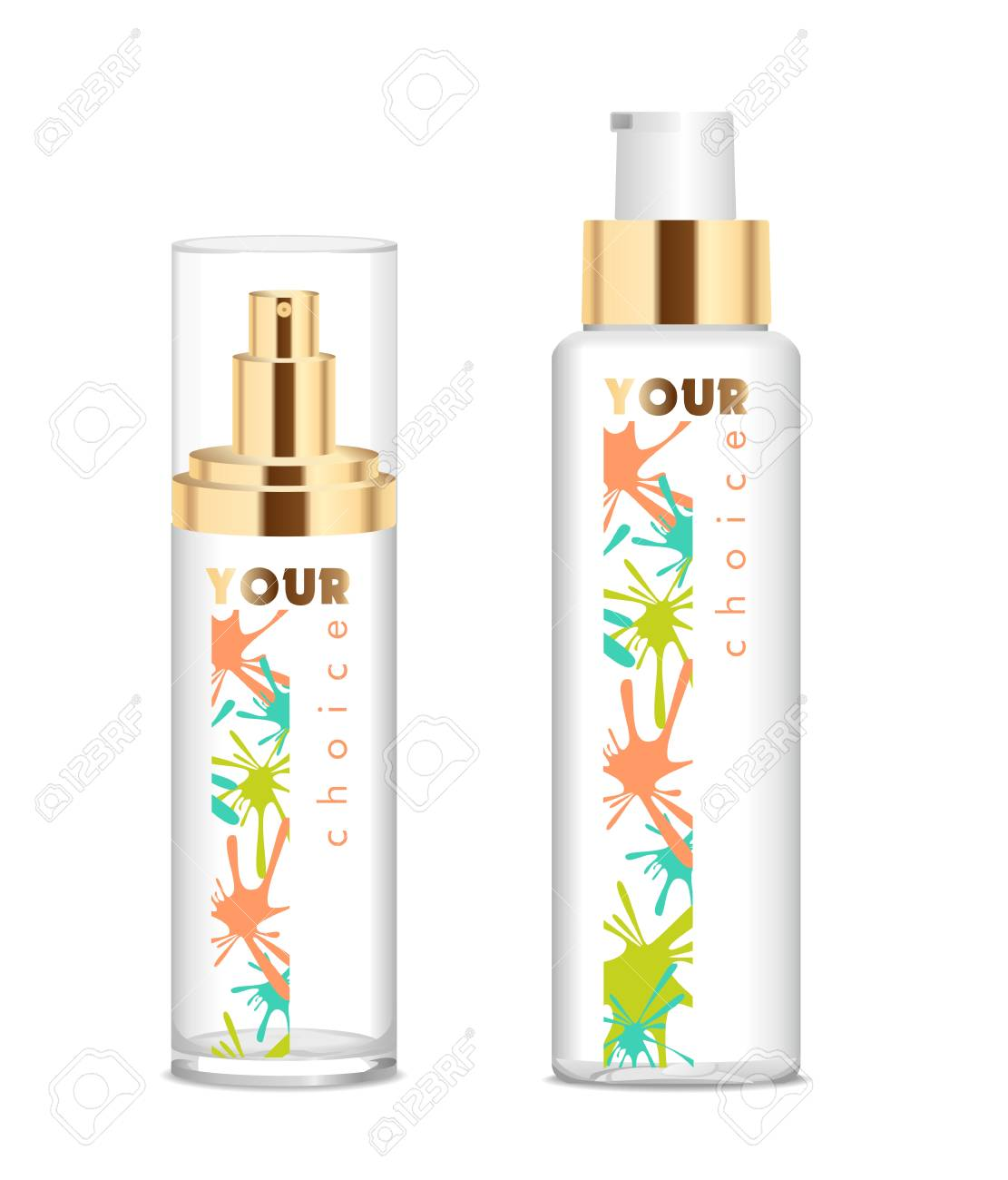 Two transparent cosmetic bottles - 71558262