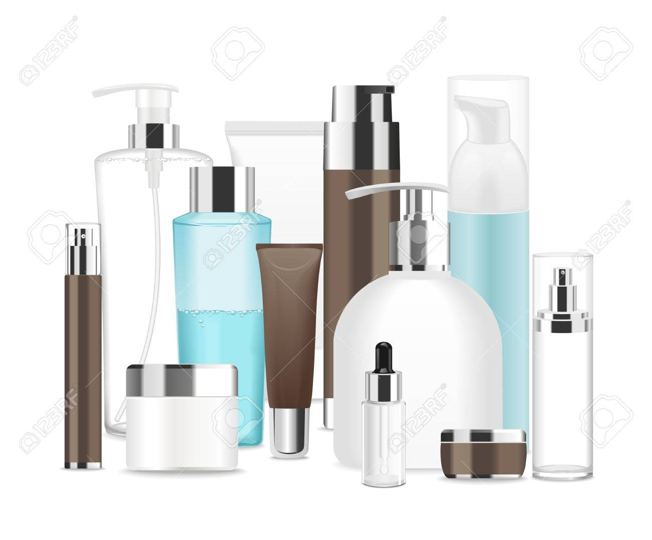 Group of different cosmetic tubes. - 71564949