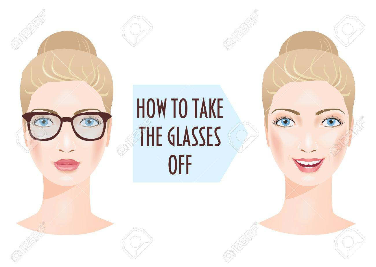 Two woman faces and the problem of bad vision. - 75356393