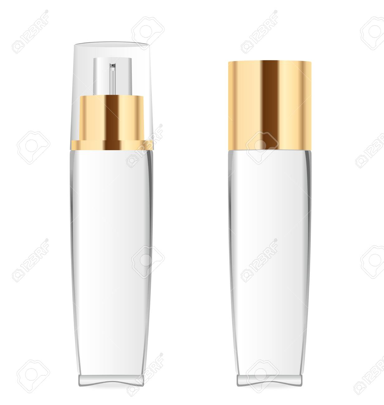 Two transparent cosmetic bottles - 75379653