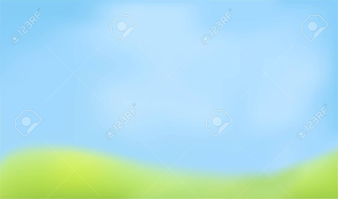 Blured abstract background. Green and blue colors. Looks like defocused sky and meadow. Vector - 136562075