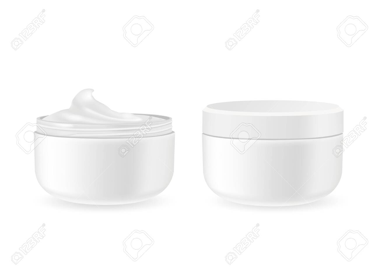 Cosmetic packages with cream isolated on white - 137368004