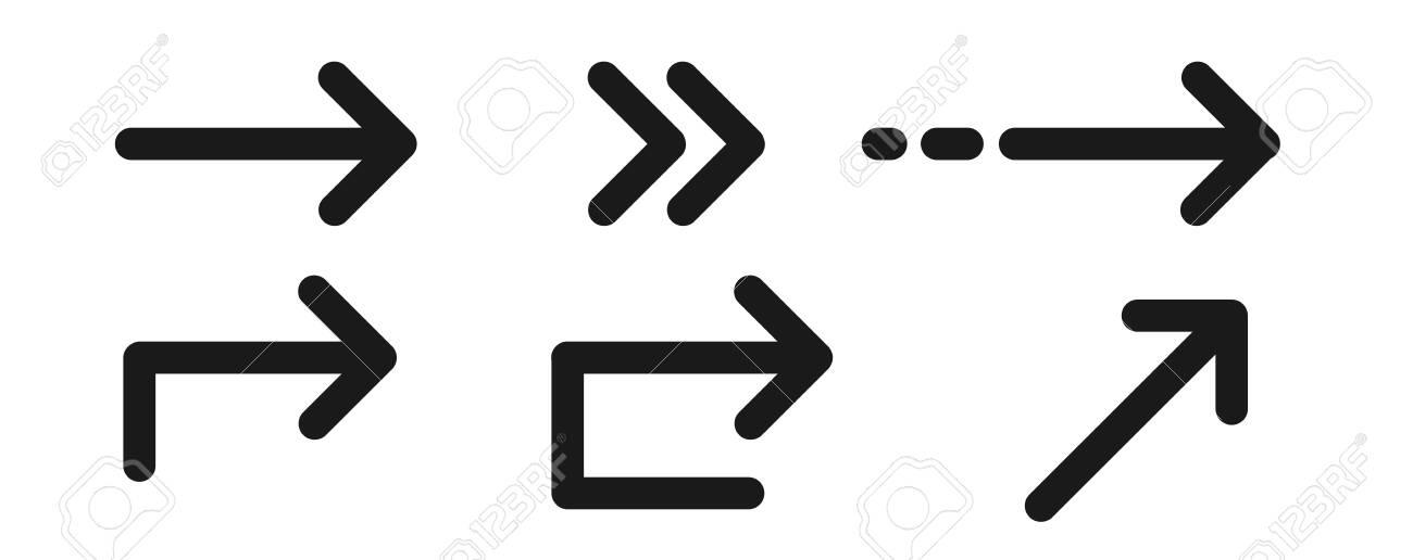 Set of differnt black arrows signs. Vector - 152470290