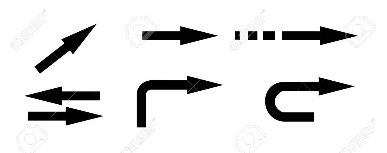 Set of differnt black arrows signs. Vector - 152470138