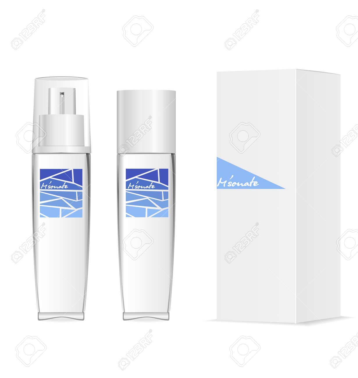Glass or acylic bottles for parfum, moisturizer etc. - 158488956