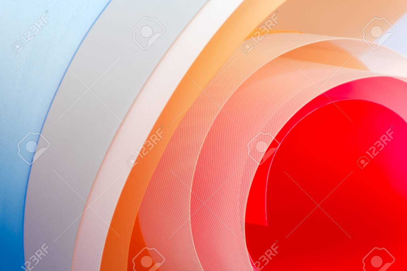 Art photography - background of multi-colored glossy sheets. - 126236230