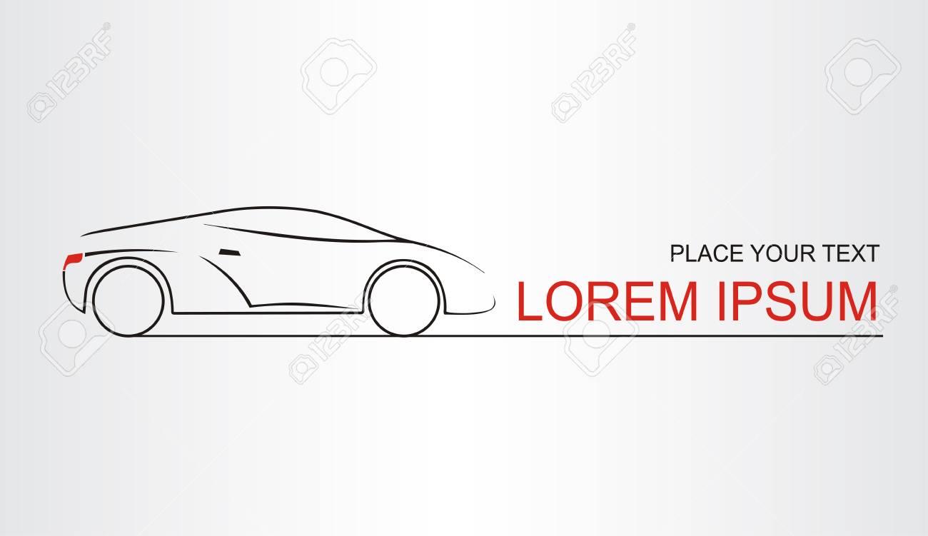 Silueta Del Auto Símbolo Del Coche Plantilla Para Logotipo ...