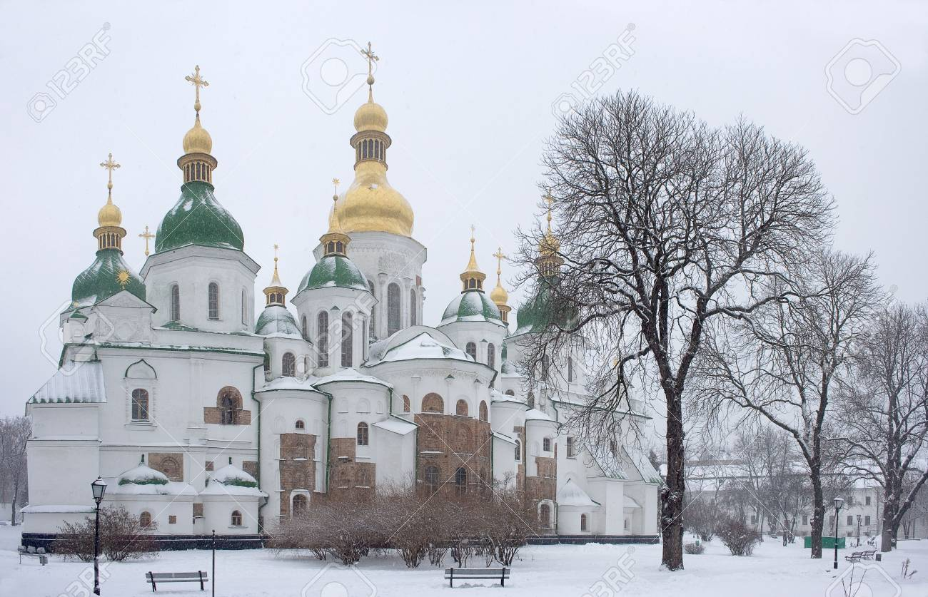 Sant Sofia (11 thentury) is she oldest cathedral of ukrainian and russian orthodox churh in Kyiv - the capital city of Ukraine Stock Photo - 6851470