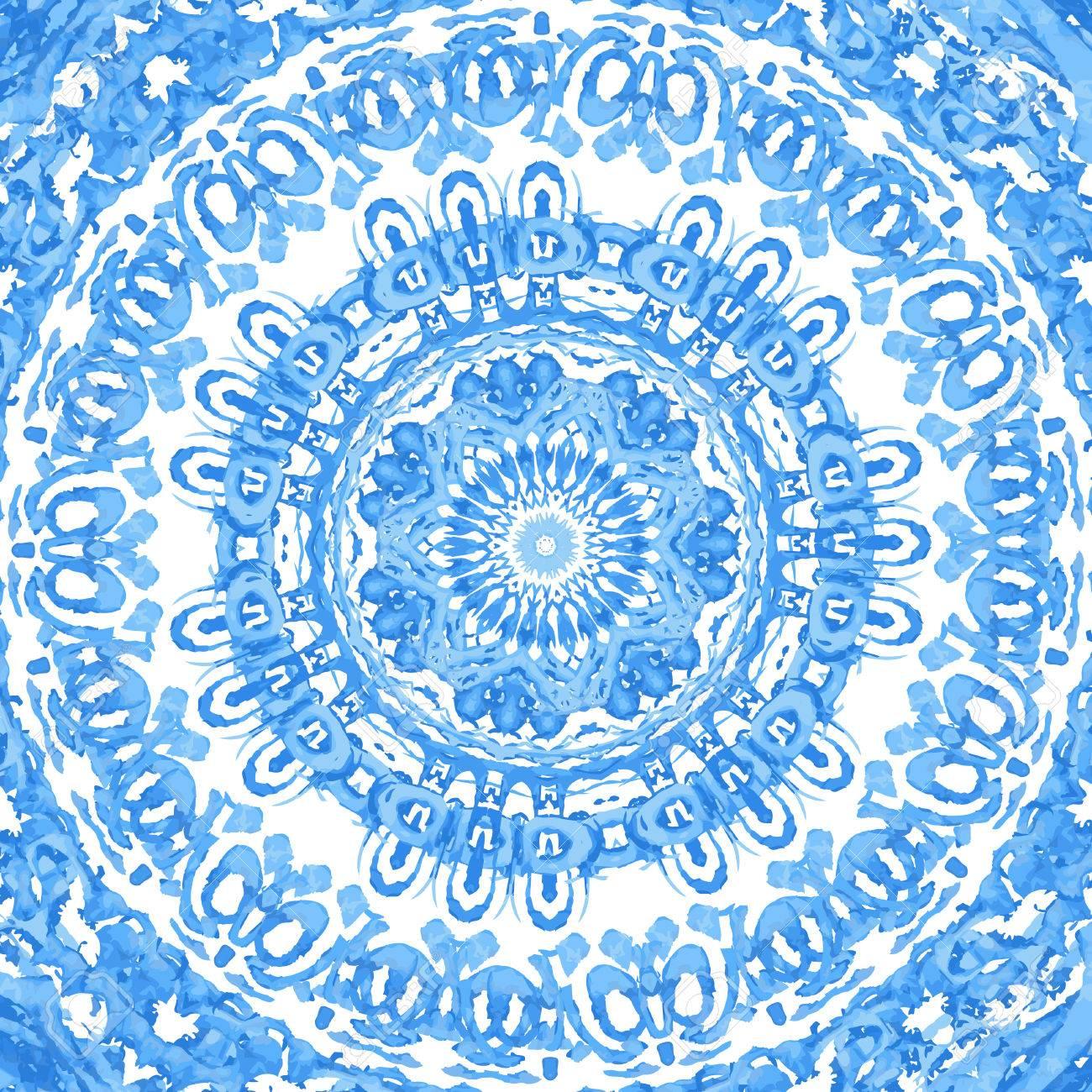 Gzhel Acuarela Tapetito Patrn De Encaje Redondo Fondo Crculo Crochet Flower Motif Motivos Hexagonales Pinterest Con Muchos Detalles Se Parece A Hecho Mano Designsorient Arabesco Ornamento Tradicional Orientales