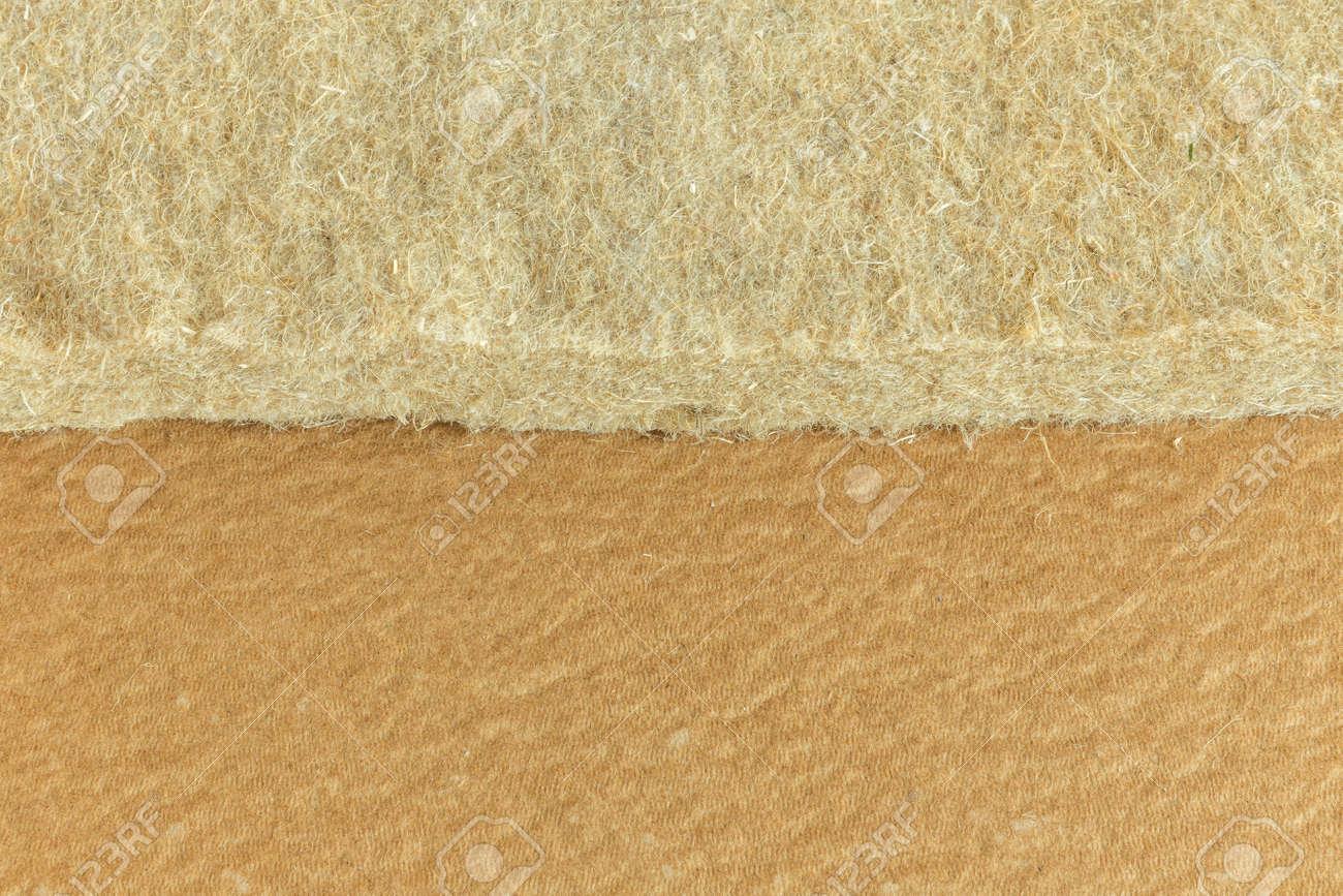 materials background - compressed thermal insulating hemp fiber bonded panels - 165053237