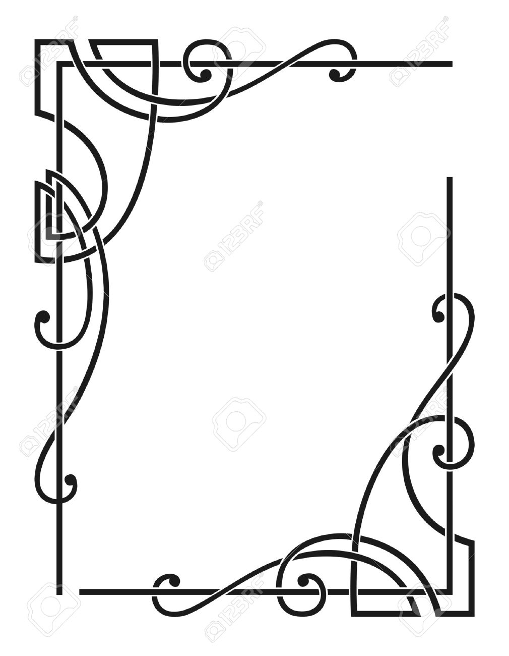 Vector Decorative Corners Stock Vector   3858367