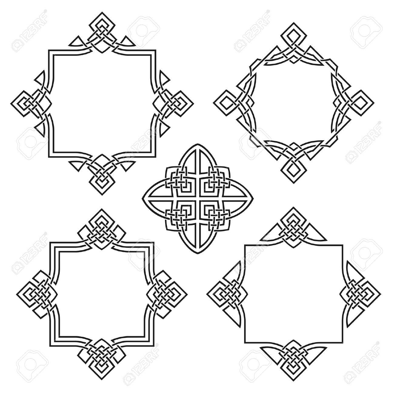 four ornamental frames for design Stock Vector - 3907156
