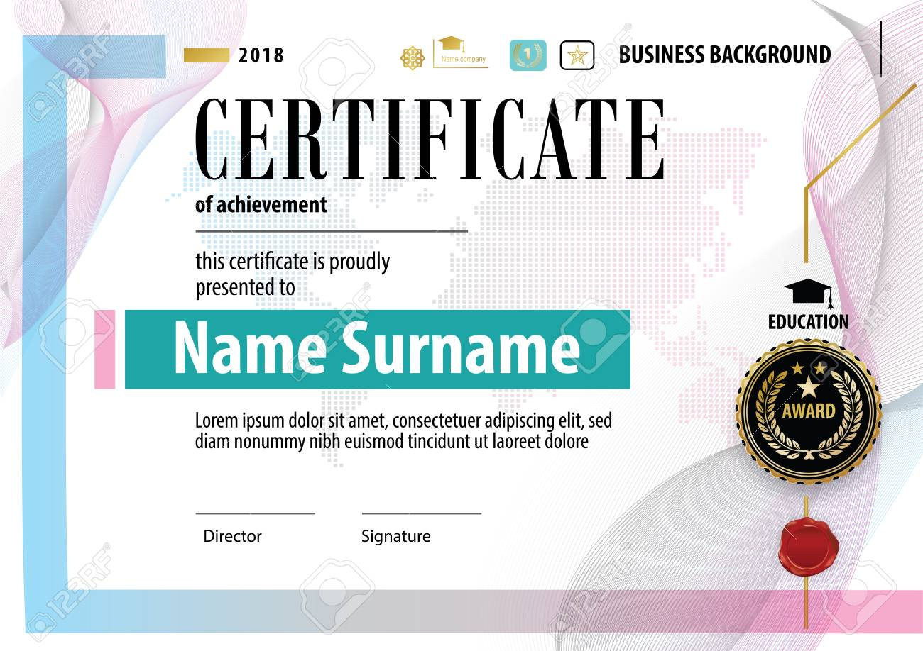 Official Certificate Template Design Royalty Free Cliparts Vectors