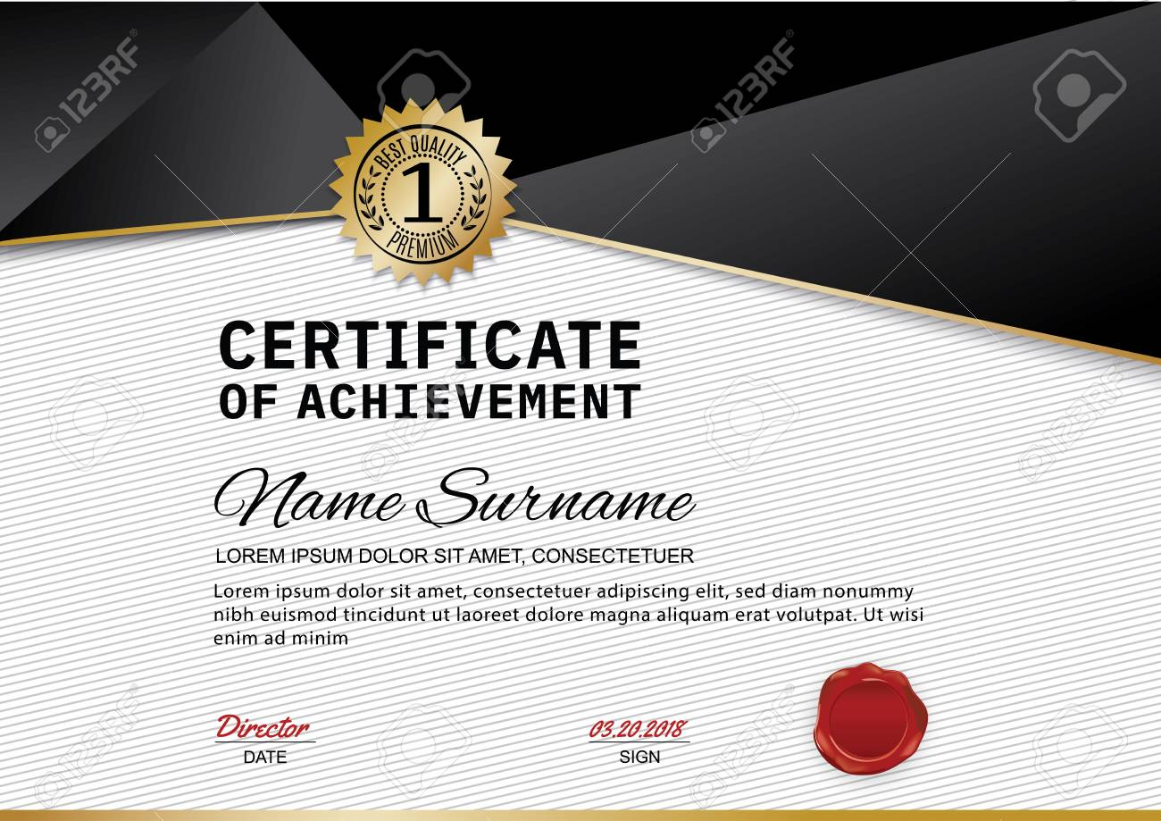 creative luxury certificate of appreciation award template with