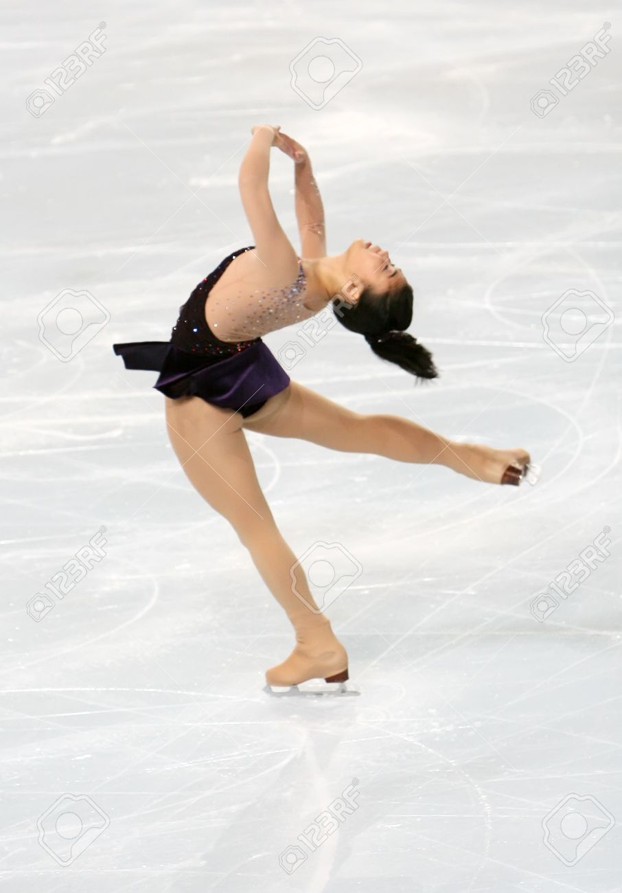 American figure skater Beatrisa LIANG during the Ladies short skating event of the Eric Bompard Figure Skating trophy on November 14, 2008 at the Palais-Omnisports de Paris-Bercy, France. This is Beatrisa's short program as of season 2008/2009. Stock Photo - 7251665