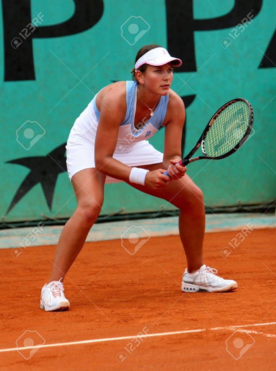 PARIS - MAY 21: South African professional tennis player CHANELLE SCHEEPERS during her match at French Open, Roland Garros on May 21, 2008 in Paris, France. Stock Photo - 7737083