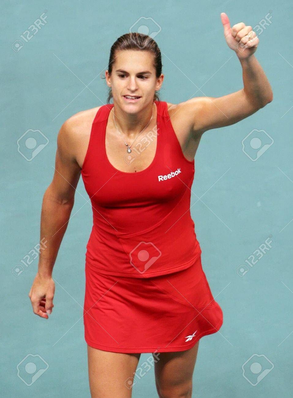 PARIS FEBRUARY 13 French Tennis Player Amelie Mauresmo Does