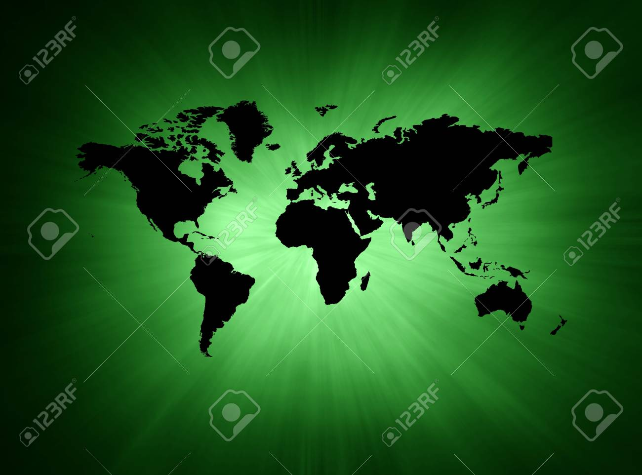 Green and black abstract illustration background with map Stock Photo - 3924439