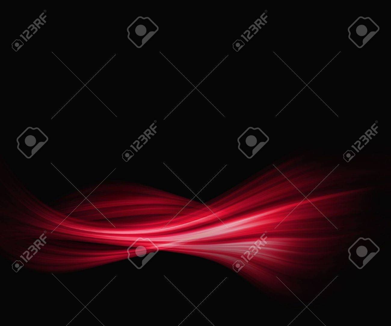 Red And Black Abstract Wallpaper Background With Wave Pattern