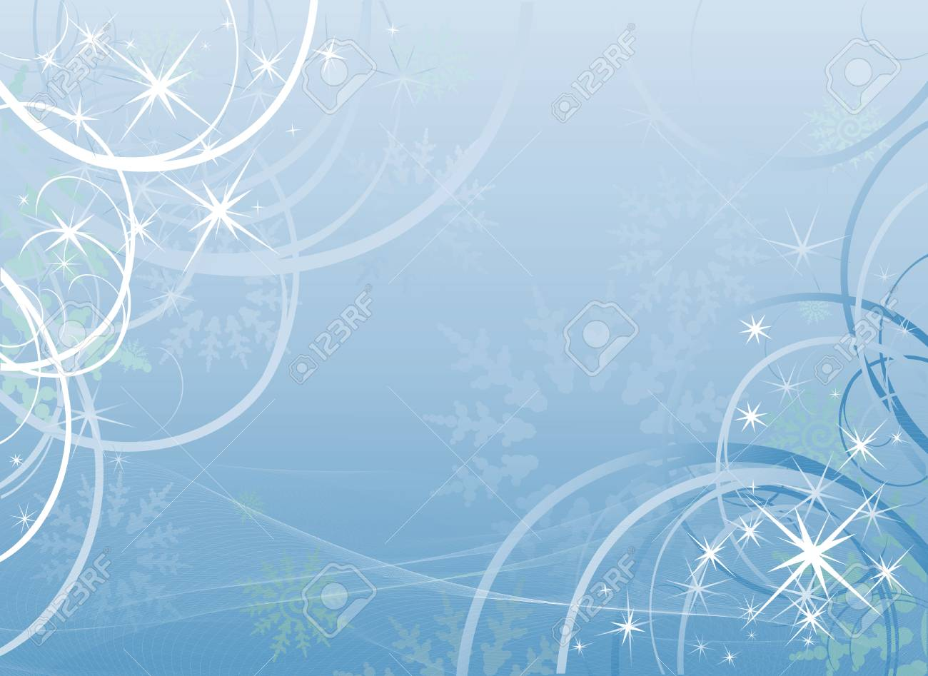 Winter blue background Stock Vector - 6064512
