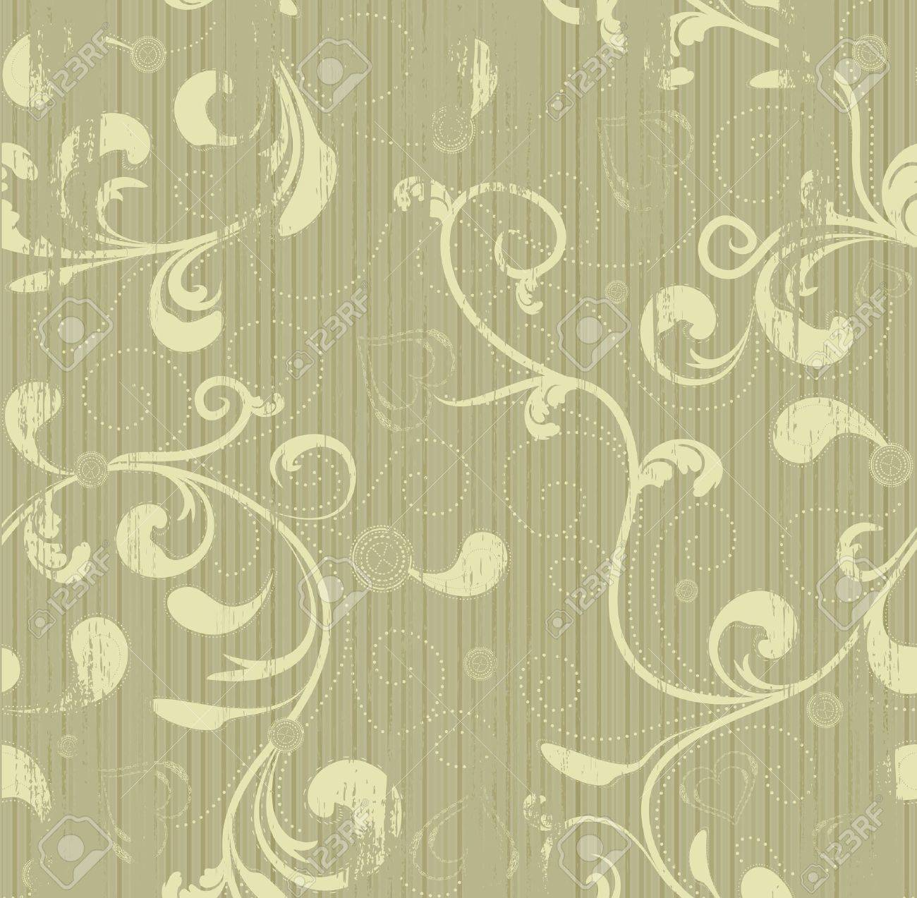 Grunge floral seamless vector beauty background - 9577272