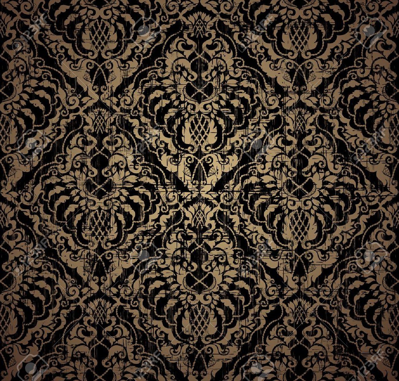 Floral seamless vintage pattern - 9893465