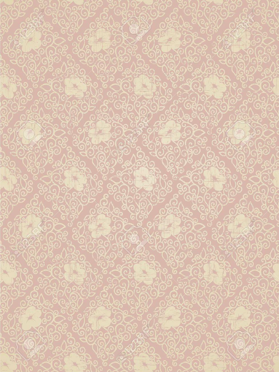 Seamless floral vintage ornament - 10968875