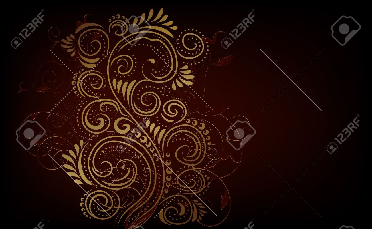 Design black, red and gold vector ornate background Stock Vector - 12391278