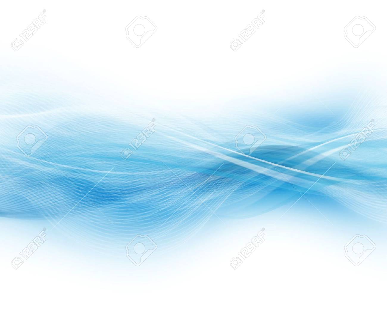 Blue And White Abstract Modern Background - 16556491