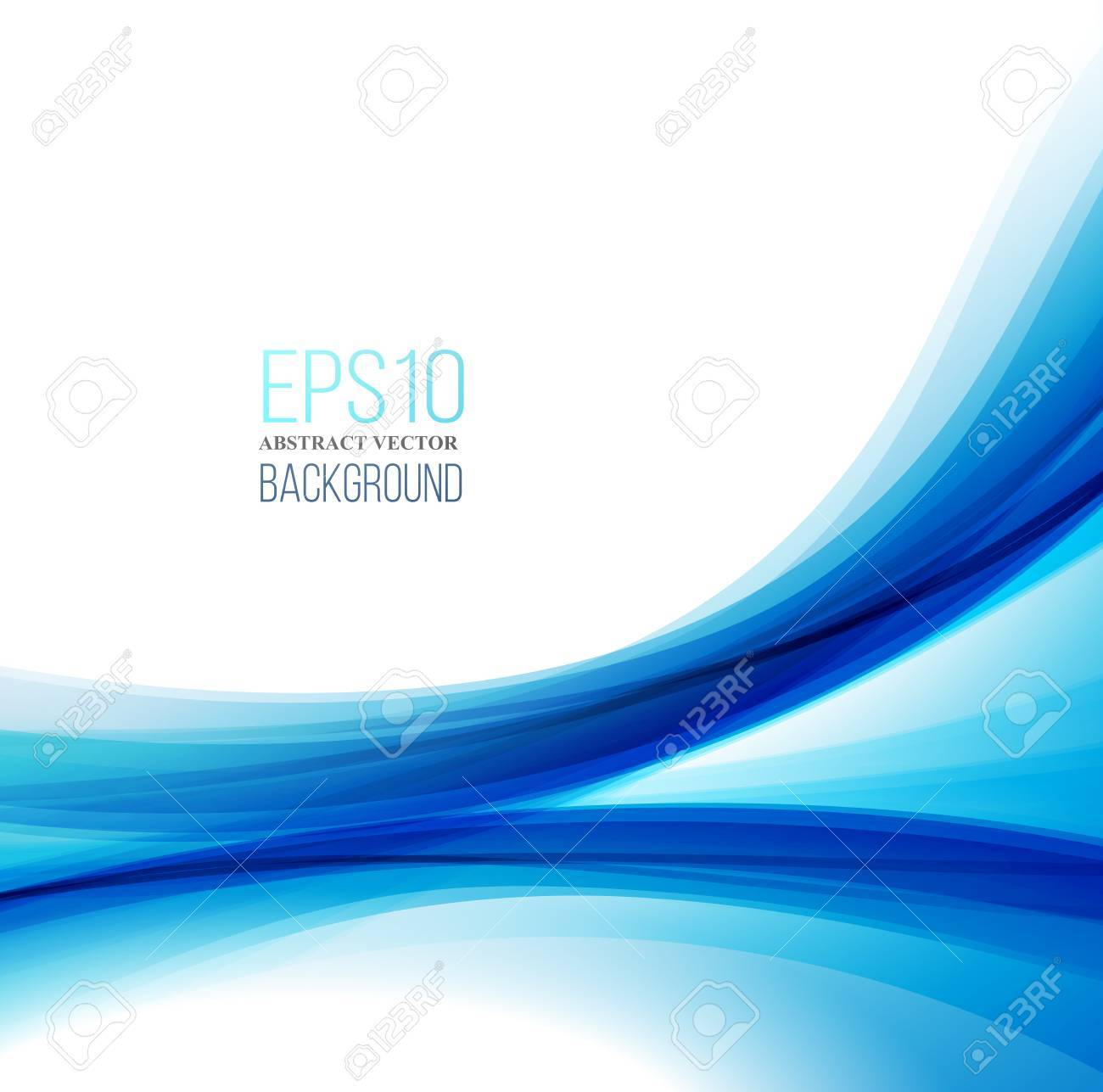 Abstract Modern Blue, Black And White Background - 48129974