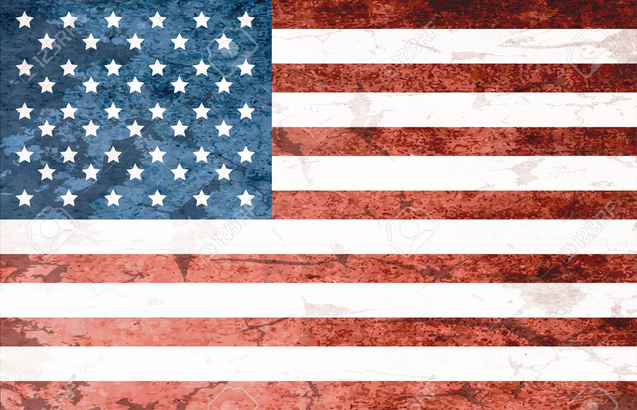 Grunge Dirty National Flag Of Usa Flag Of United States Of America