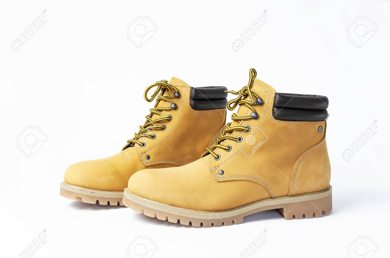 Natural Nubuck Leather Isolated