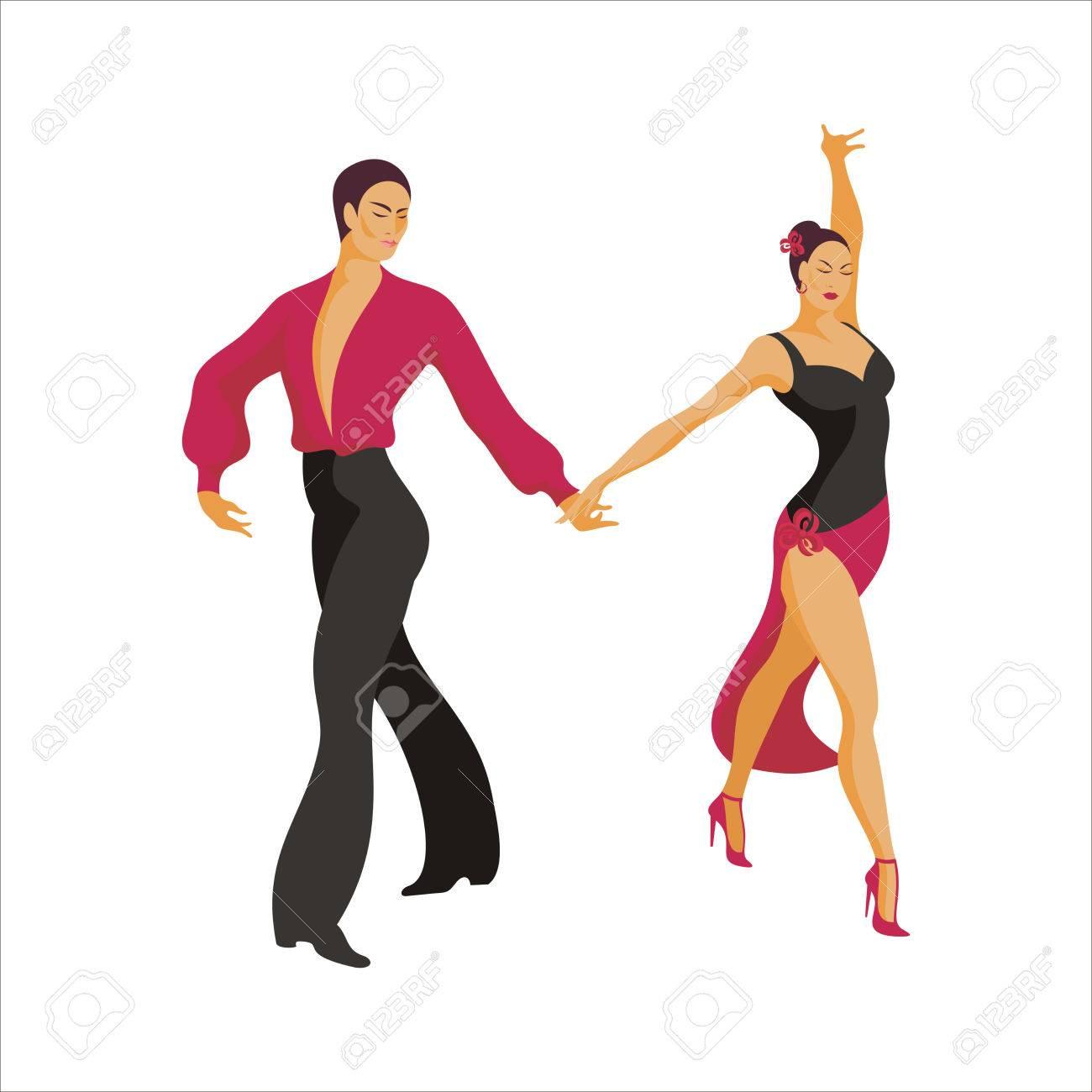 Svært Spanish Dance Paso Doble. Ballroom Dancing Couple Royalty Free KG-64