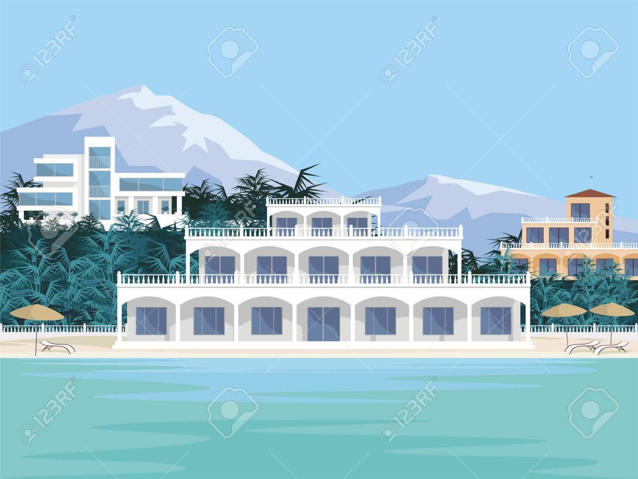 abstract image dune grande belle maison de campagne villa de luxe en