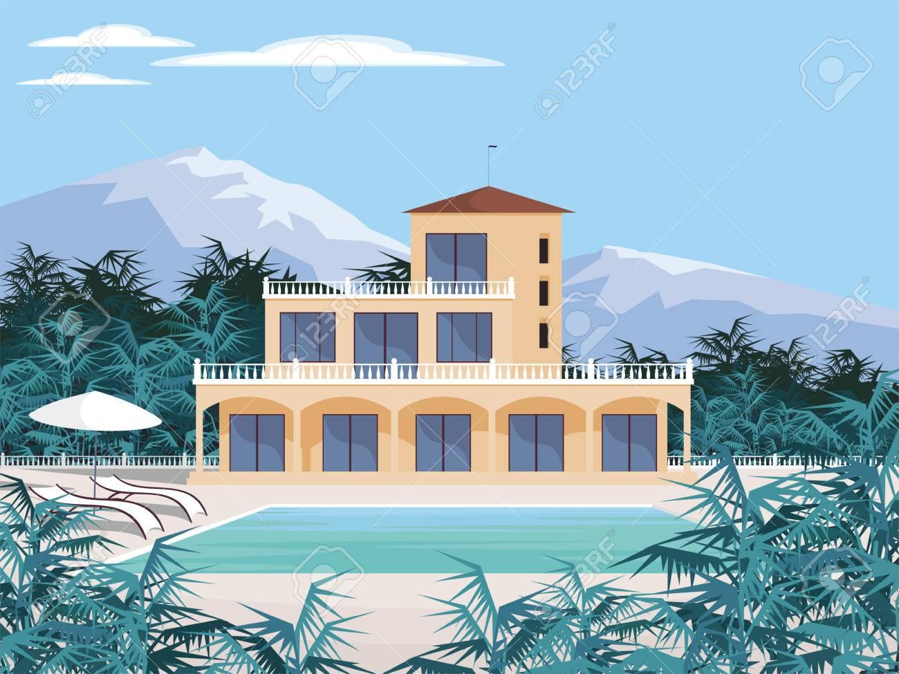 abstract image dune grande belle maison de campagne villa de luxe dans