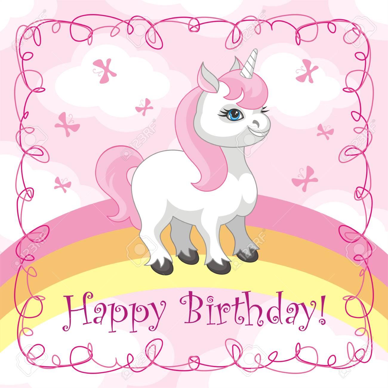 Alles Gute Zum Geburtstag Grußkarte Mit Einem Bild Von Einem Süßen