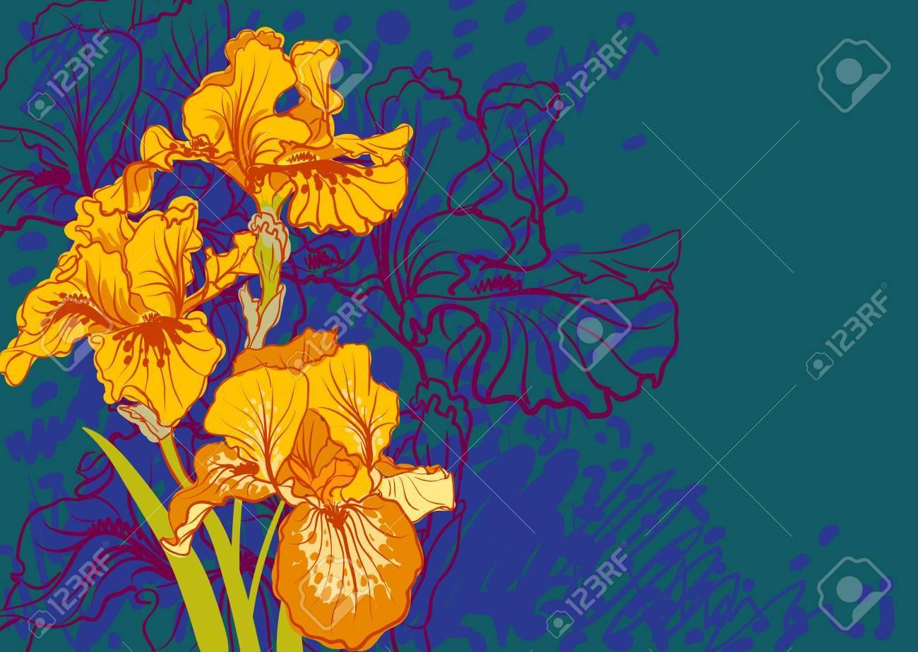 Decorative designs of iris flowers stock photo picture and royalty decorative designs of iris flowers stock photo 23010063 izmirmasajfo Image collections