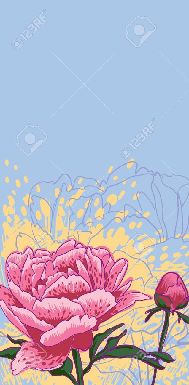 decorative image peony flowers Stock Photo - 23010139