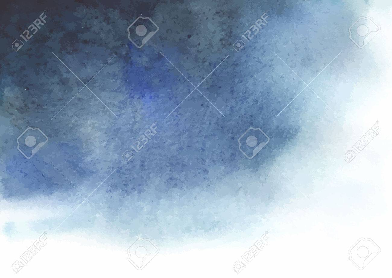 Watercolor blue gray abstract background. Spot similar to the a thundercloud. - 57006134