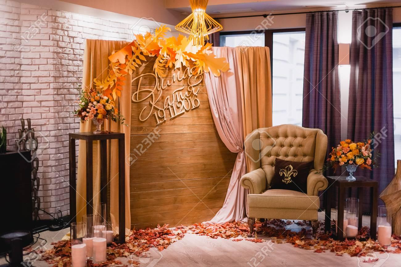 Schone Ungewohnliche Hochzeit Dekor Rustikaler Stil Lizenzfreie Fotos Bilder Und Stock Fotografie Image 72438637